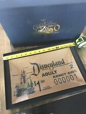Disneyland 50th Celebration Ticket Replica