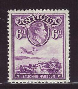1938 Antigua 6d St John's Harbour Mounted Mint SG104