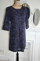 BNWT FCUK French Connection Purple Dress Embroidered Sparkle Tunic Small XS 6 8