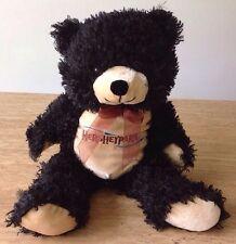 "HERSHEY PARK PLUSH TEDDY BEAR SOUVENIR Black Stuffed Animal Toy Doll 16"""