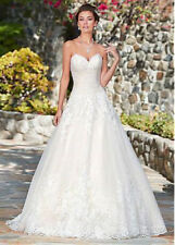 a051NEW White/Ivory Lace Wedding dress Bridal Gown Custom Size 4 6 8 10 12+++