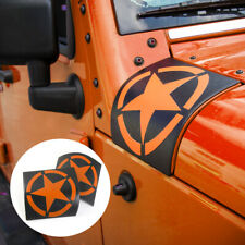 Cowl Body Armor Cover Exterior Accessories For Jeep Wrangler JK JKU Orange star