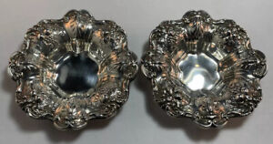 Pair Of Reed & Barton Francis 1st Sterling Silver Nut Dishes No Monogram