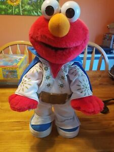 "2000 Mattel Sesame Street Elmo The Legend Elvis Doll 15"" Sings & Dances Vintage"