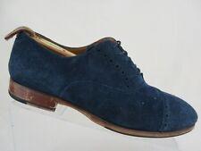 ALDO Cap-Toe Brogued Blue Suede Sz 8 Men Dress Shoe Oxfords