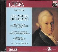 CD album: mozart: Les Noces de Figaro. Acte 1 & 2. Vittorio Gui. EMI . O