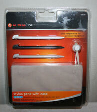 NEW ALPHALINE 3 Stylus Pens WIth Case Set For WII U,  NIntendo 3DS, XL, DSI & DS