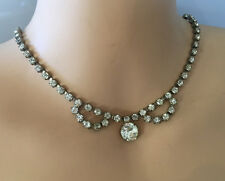 Art Deco Rhinestone Necklace #7 1950s Vintage Juliana D&E for Weiss