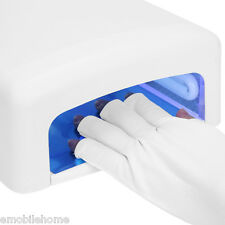 Anti UV Glove Radiation Protection Photo Therapy Manicure Nail Art Dryer Tools.