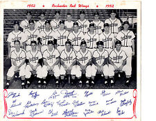 1952 ROCHESTER RED WINGS TEAM 8X10 PHOTO  BASEBALL NEW YORK DEAL BILKO