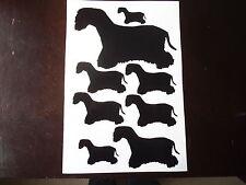 Cesky terrier vinyl stickers, decals, for car, window
