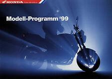 Honda Prospekt 1999 11/98 Motorrad CR 500 R CG 125 F6C Gold Wing Bali VFR NX