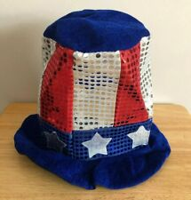RED WHITE BLUE STARS FOURTH OF JULY HAT
