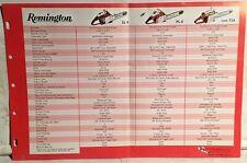 1971 Remington Chain Saw Sales Flyer