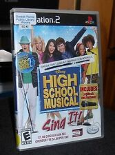 High School Musical Sing It Game Only PS2 E  2007 Microphone not included