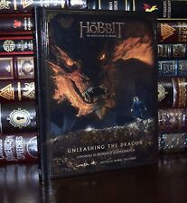 Hobbit Smaug Unleashing the Dragon Tolkien Illustrated New Hardcover Deluxe