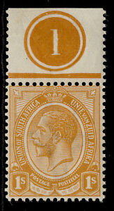 SOUTH AFRICA GV SG12a, 1s orange-yellow, M MINT. CONTROL