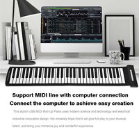 Portable USB 61 Keys MIDI Roll up Electronic Piano Keyboard Silicone Flexible LJ