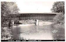 Wisconsin WI Real Photo RPPC Postcard c1940 CEDARBURG Covered Bridge Excel CO