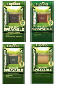 Cuprinol One Coat Sprayable Shed & Fence Treatment 5L Outdoor Garden Paint