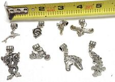 8 Different Silvetone Bracelet Charms Never Used Jewelry