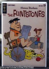 "Flintstones Comic Book Cover 2"" X 3"" Fridge / Locker Magnet. Fred and Wilma"