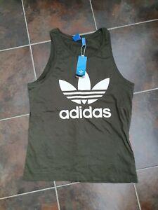 Adidas Men's Khaki Green Sleeveless Vest Top, size medium BNWT