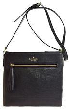 NWT Kate Spade Chester Street Dessi Leather Crossbody Bag Messenger Black Cute!