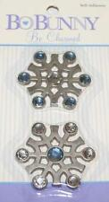 Bo Bunny SNOWFLAKES Be Charmed Metal Charms Scrapbooking Cardmaking