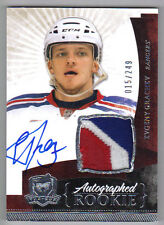 10-11 Evgeny Grachev The Cup Auto Rookie Card RC #160 Sweet Jersey Patch 015/249