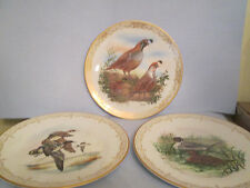 THREE PLATES EDWARD MARSHALL BOEHM WATER/GAME BIRD PLATE COLLECTION  NO BOX
