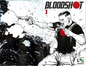 HERO INITIATIVE BLOODSHOT 50 PROJECT Original cover: MARC LAMING CGC 9.6