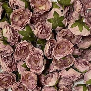 Artificial Silk Flower Heads - Mauve Peony Style 150 - 5 Pack