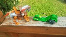 VINTAGE 1983 HE-MAN MOTU STRIDOR BATTLE HORSE & ROAD RIPPER VEHICLE  !