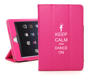 For Apple iPad 2 3 4 5 Air Mini Pro Leather Smart Case Stand Keep Calm Dance On
