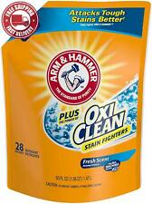 Arm  Hammer Plus OxiClean, 84 Loads Total Laundry Detergent Easy-Pour Pouches,
