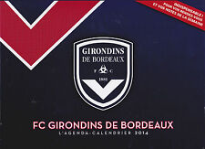 GIRONDINS DE BORDEAUX - FOOT - AGENDA-CALENDRIER 2014 - 52 PHOTOS - COLLECTOR