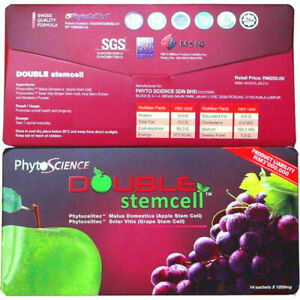 3X PHYTOSCIENCE DOUBLE STEMCELL PHYTOCELLTEC ANTI AGING (42 Sachets). EXP 2022