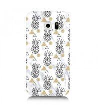 Coque Galaxy S6 Marbre ananas geometrique blanc dore or