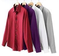 New APT 9 Men's Textured Stripe Spread-Collar Luxury Casual Shirt MSRP $44