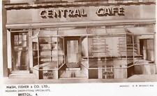 Nash Fisher & Co Shopfitting Bristol  Central Cafe Advertising unused RP old pc