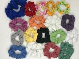 Blue Pinwheel Scrunchie Hair Scrunchie 80/'s 90/'s Retro Scrunchies Handmade Hair Cloud