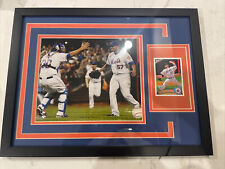 New listing New York Mets Johan Santana Framed Picture and card