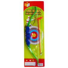 Kids Bow And Arrow Play Set Toy Plastic King Archery Outdoor Garden Fun Game L