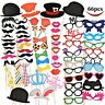 66 Piece Photo Booth Props Picture Photography Birthday Wedding Funny Stick Hats