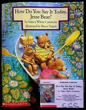 HOW DO YOU SAY IT TODAY, JESSE BEAR? ~ Read A Long Book & CASSETTE Tape Set