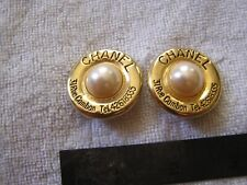 Vintage Chanel Earrings 31 Rue Cambon tel 42618335