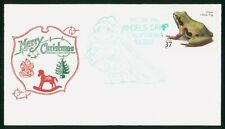 Mayfairstamps Us 2004 Merry Christmas Ornate Chorus Frog Cover wwp_52163