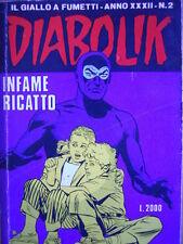 DIABOLIK - prima edizione - anno XXXII N°2 [G.245]