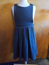 M&S Cotton Rich Knitted Pinafore w/Stretch 3-4yrs 104cm Grey BNWT